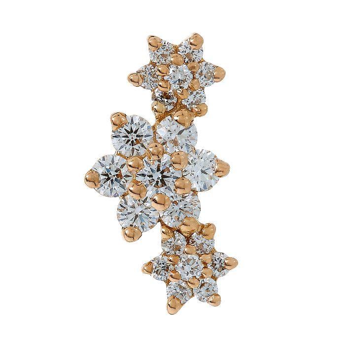 Conch piercing: Maria Tash Diamond Flower Garland Threaded Stud Earring
