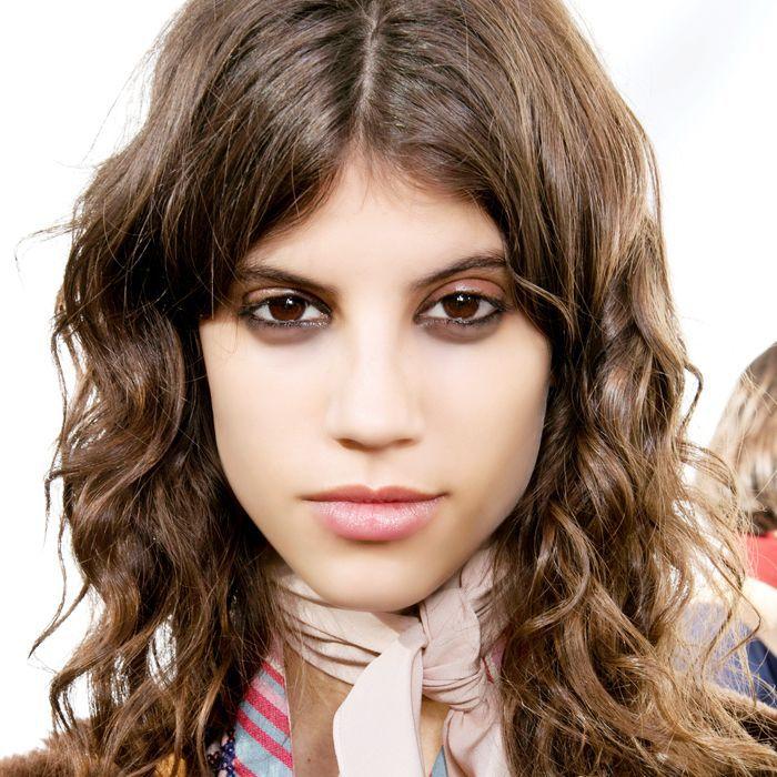 Woman with shag haircut