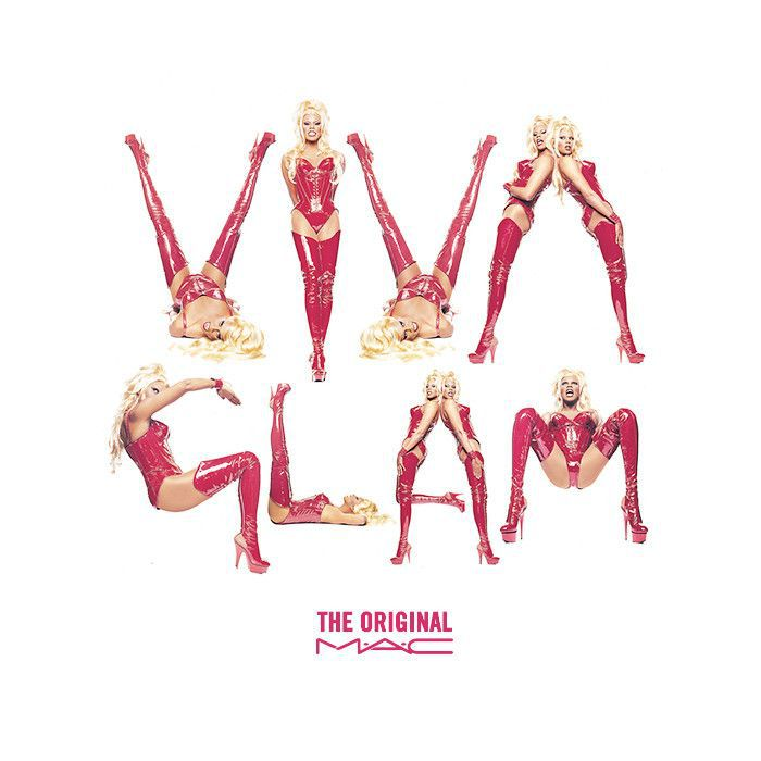 1994 VIVA Glam MAC advertisement featuring RuPaul