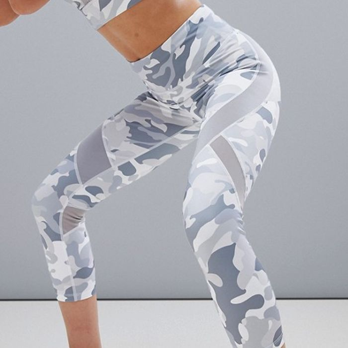 Bershka Grey Camo Sports Legging