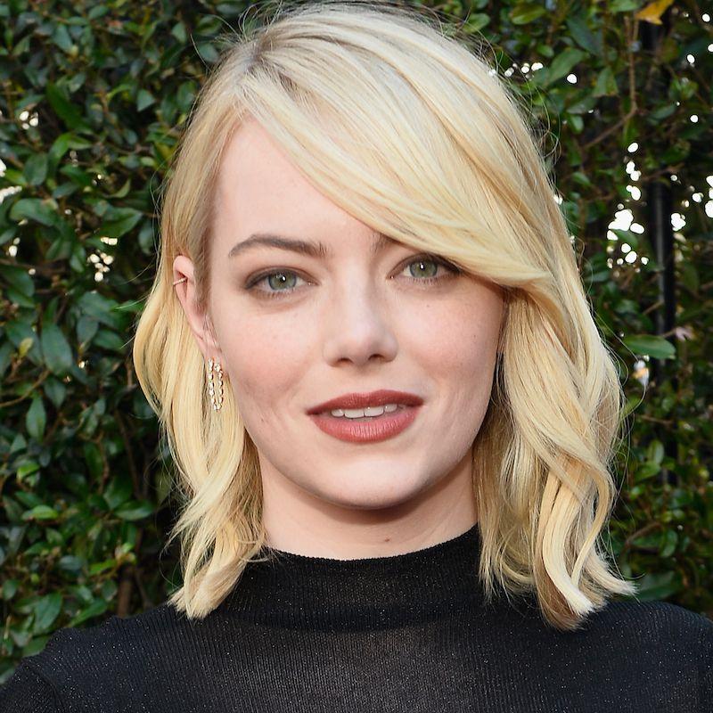White Blonde Hair Emma Stone