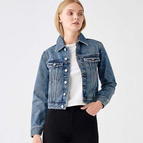 Vika Jacket Shrunken Denim ($199)