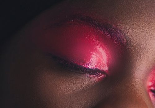 woman with pink eyeshadow