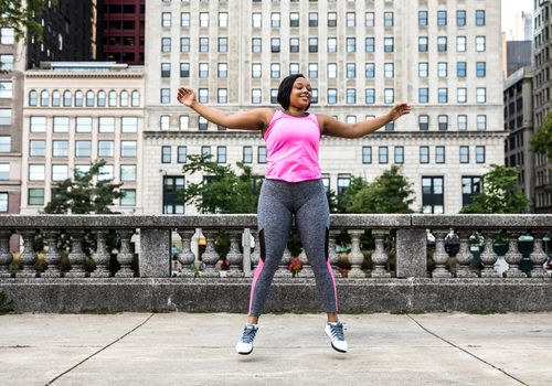 woman jumping for exercise