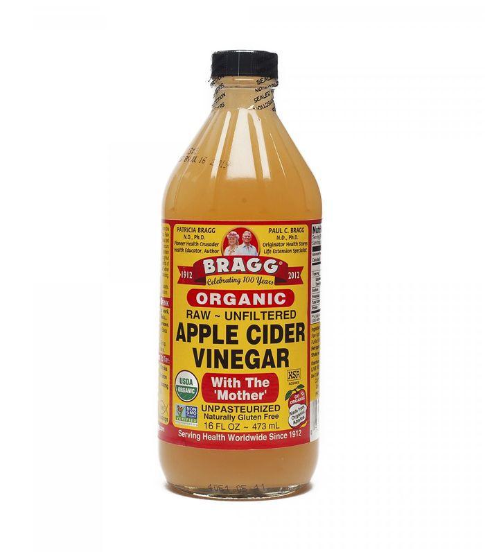 vinegar for hair: Bragg Organic Apple Cider Vinegar