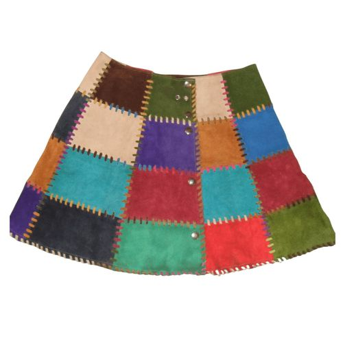 Thrilling 60's/70's Colorblock Patchwork Skirt