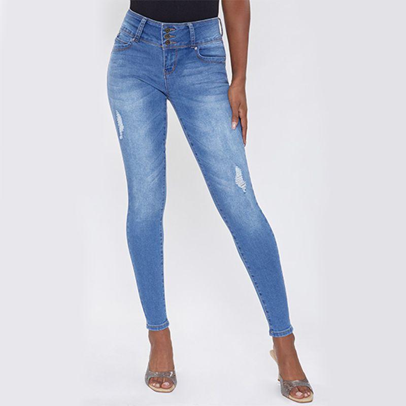 Ymi WannaBetterButt 3 Button Mid-Rise Skinny Jean