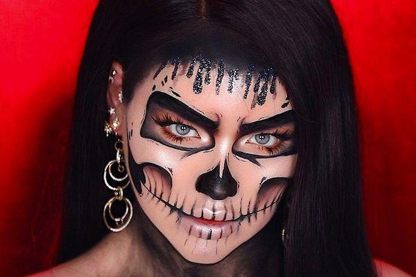 Nikkietutorials skull makeup