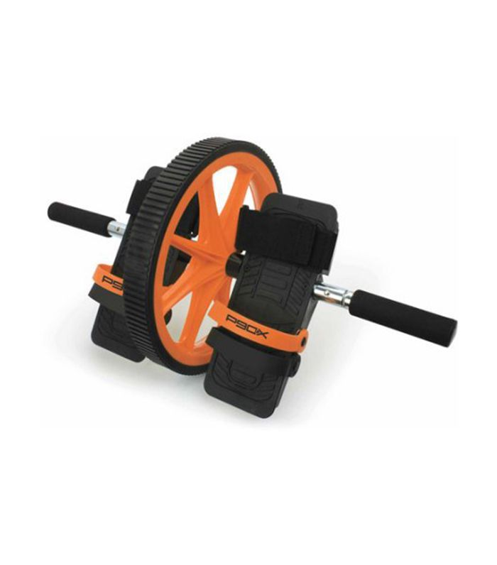 P90x Hard Core Ab Wheel With Foot Straps - home fitness equipment