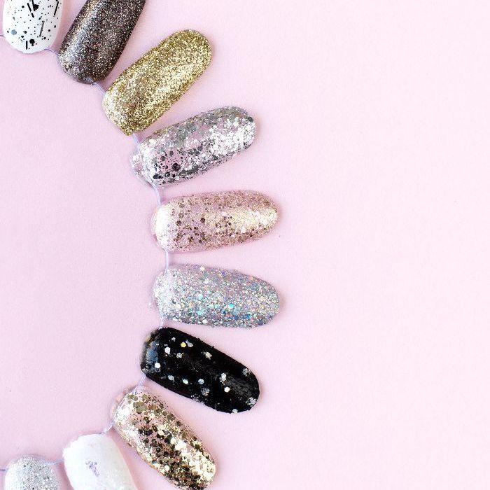 polish designs on fake nails