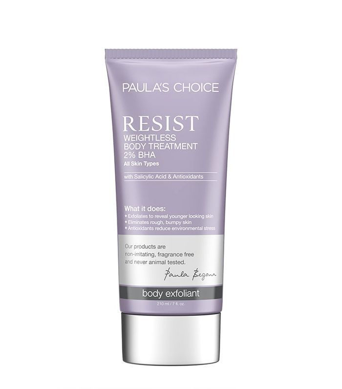 How To Exfoliate Correctly: Paula's Choice Resist Weightless Body Treatment 2% BHA