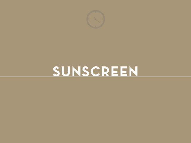 sunscreen graphic