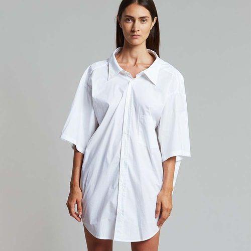 Celyn Oversized Shirt-Off White ($128)