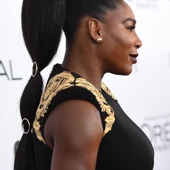 Serena Williams Slicked-Back Ponytail