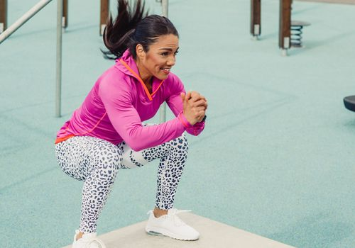HIIT workout box jumps