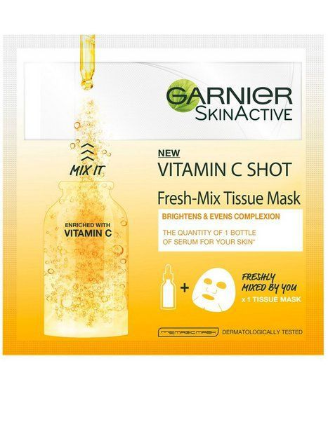 Garnier Vitamin C Shot Fresh-Mix Tissue Mask