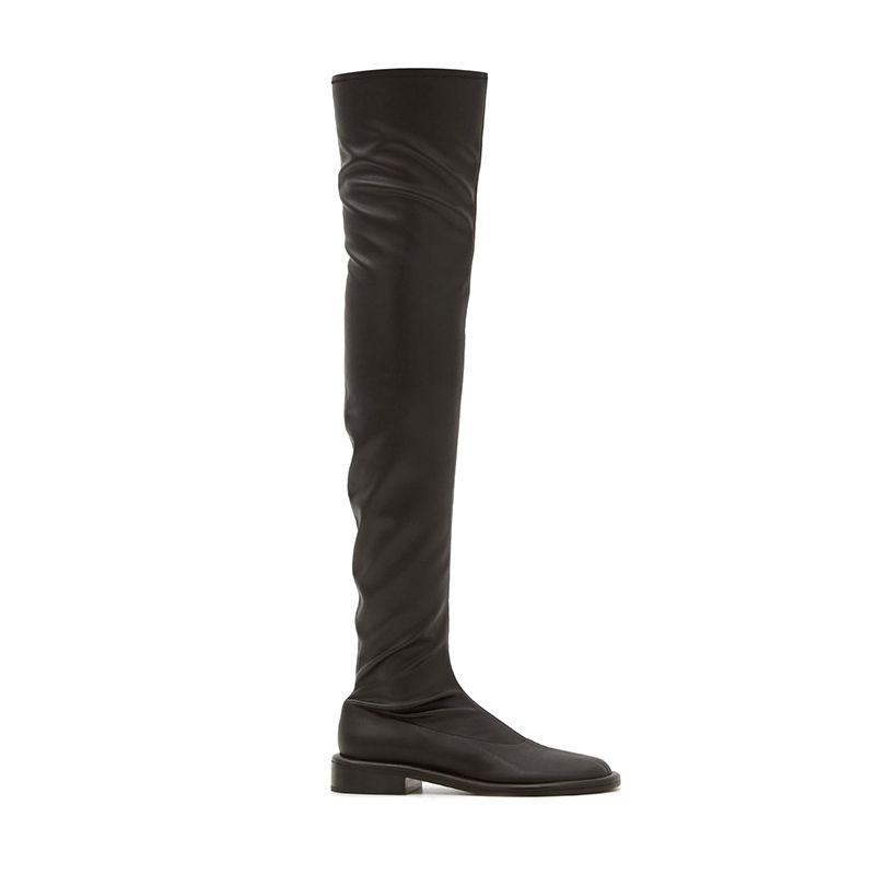 Pipe Faux-Leather Over-the-Knee Boots