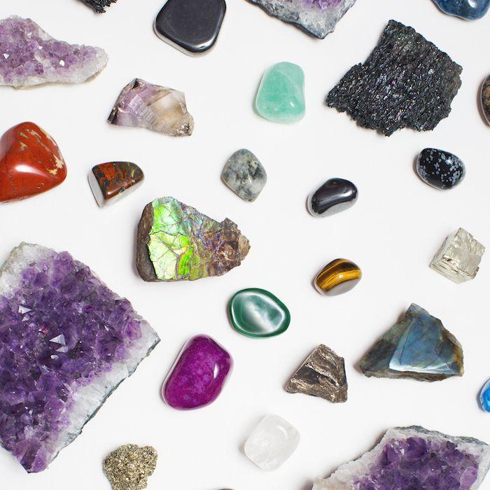 Assortment of crystals