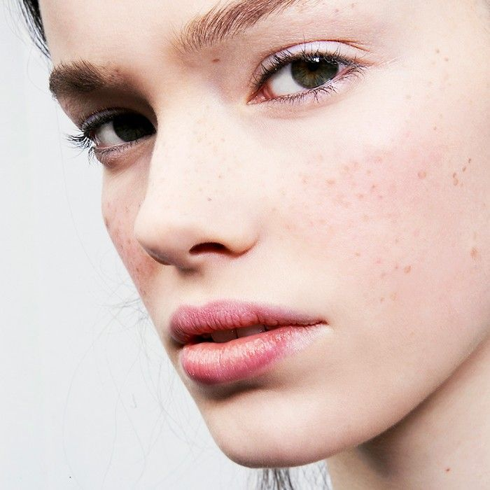 Girl with freckle