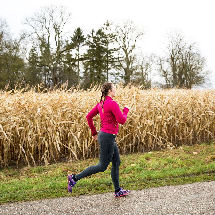 how to start a healthy habit: woman running