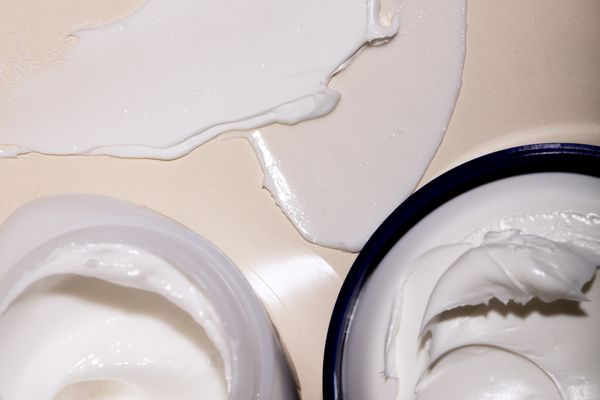 creams in jar and smears