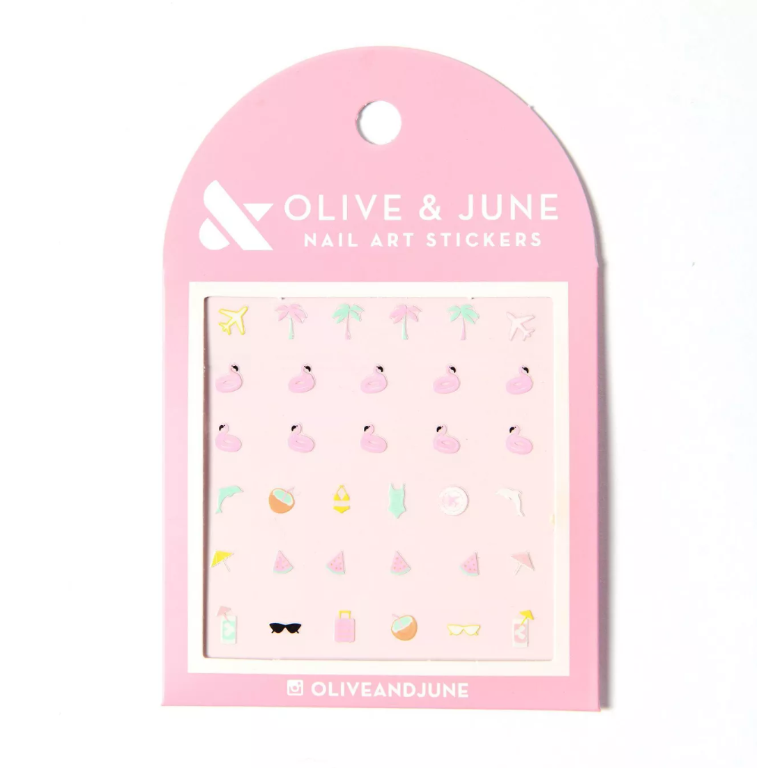 Olive & June Nail Art Stickers on a white background