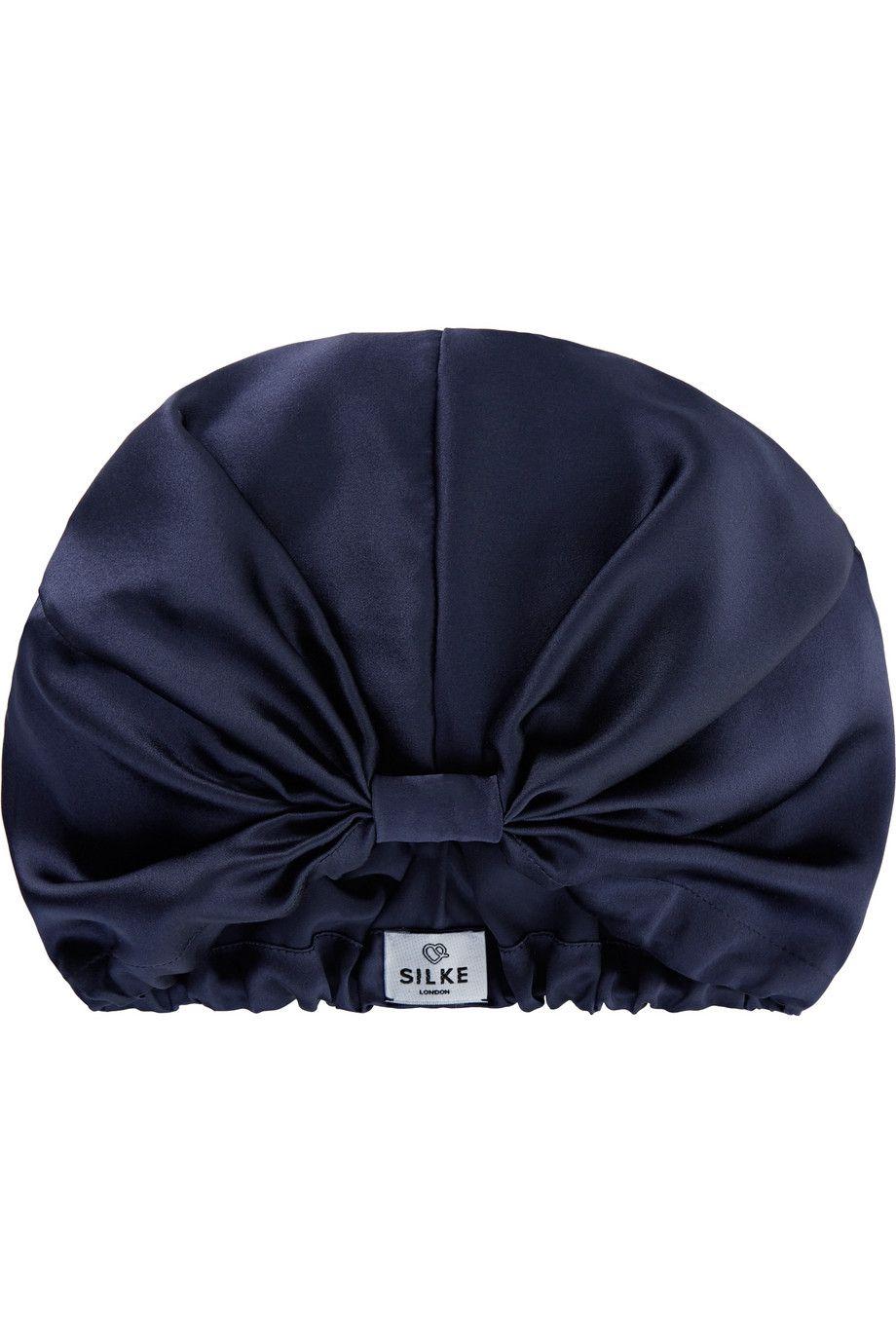 blue hair wrap bonnet