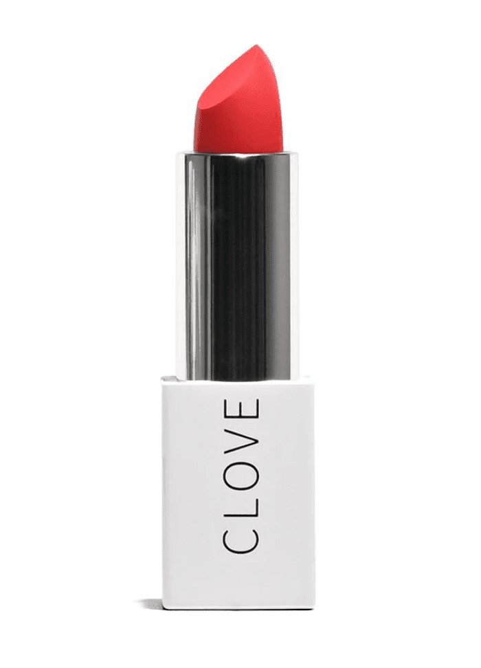 Clove + Hollow Lip Crème in Flaming Coral