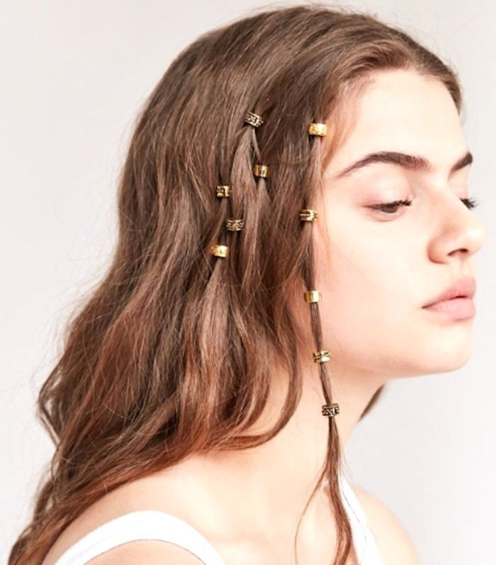 Urban Outfitters Regal Rose Engraved Hair Charms