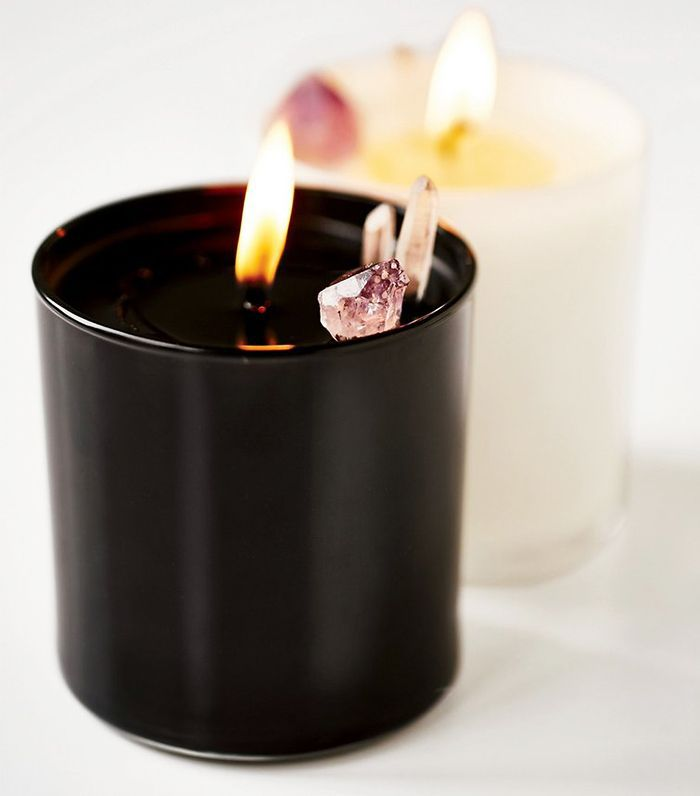Winter candles: Elektric Alice Smoke & Lavender Soy Quartz Crystal Candle/
