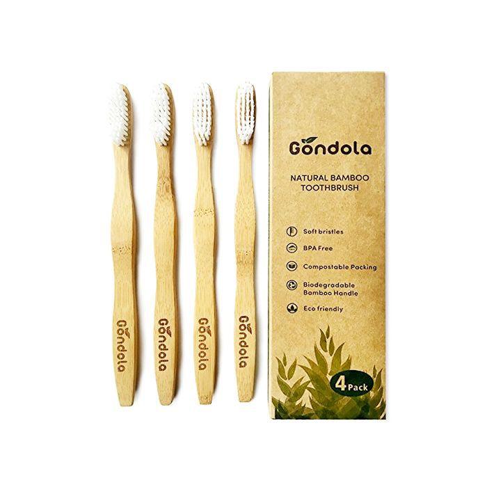 Gondola Natural Bamboo Toothbrushes