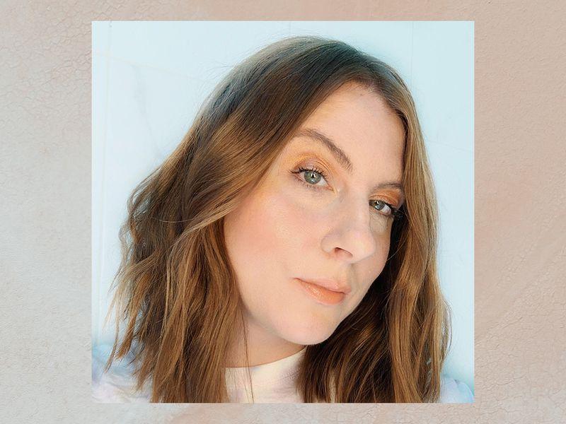 Makeup artist Ashley Rebecca in a neutral makeup look