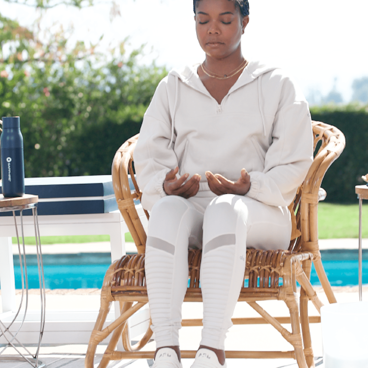 Chase Sapphire Gabrielle Union Meditating