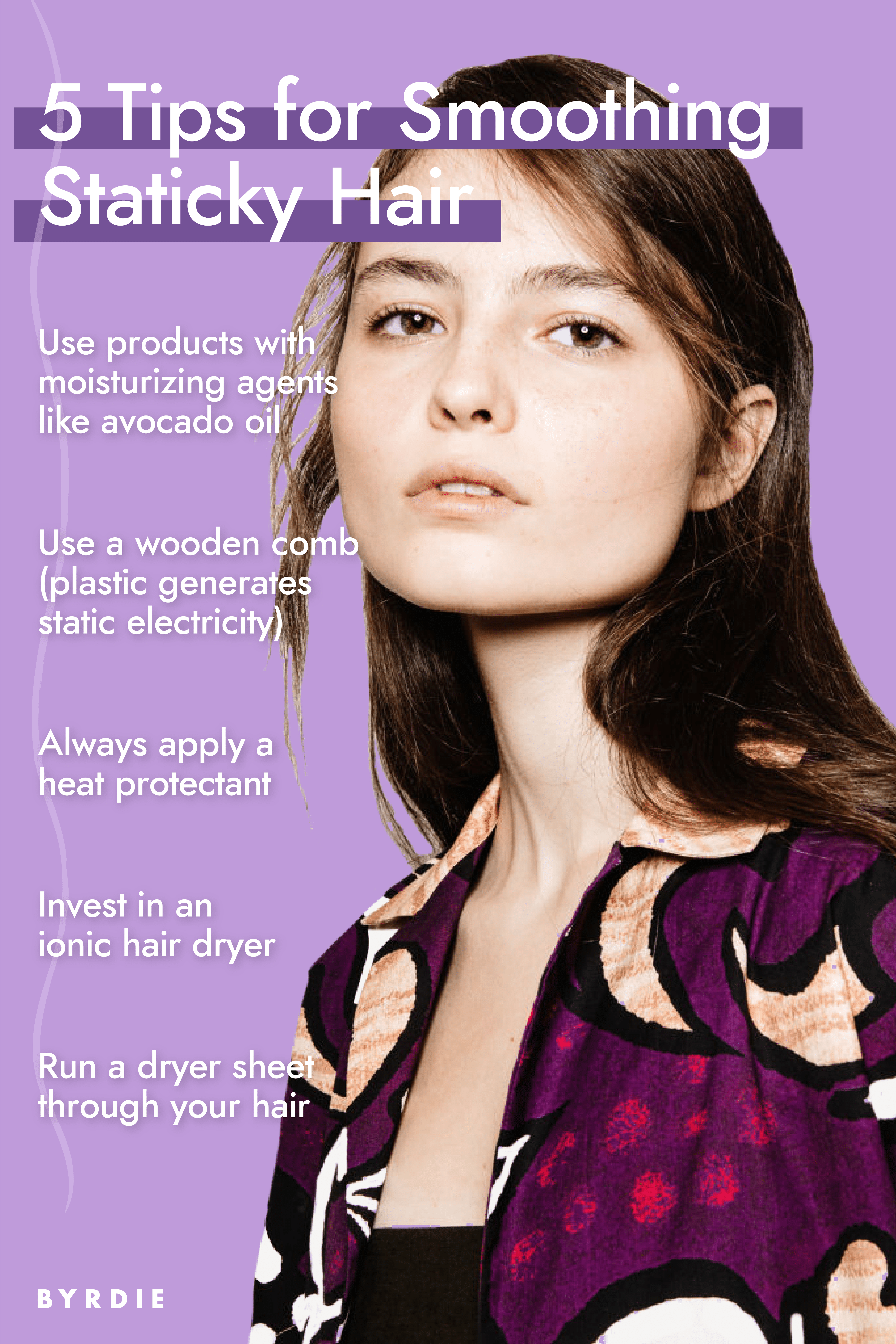 5 Tips for Smoothing Staticky Hair