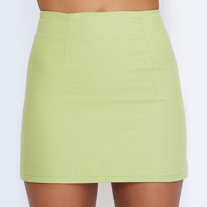Bright And Loud Mini Skirt Green