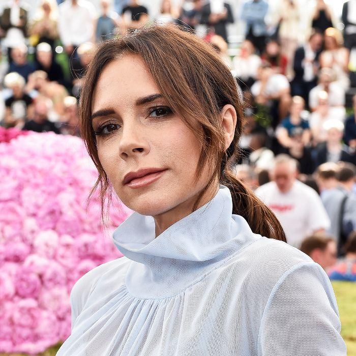 Victoria Beckham beauty routine: Victoria Beckham at the Dior Homme show