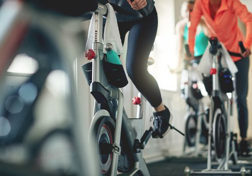 People on spin bikes.
