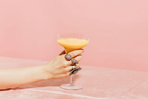 New generation of nondrinkers, Creamy cocktail with jeweled hand