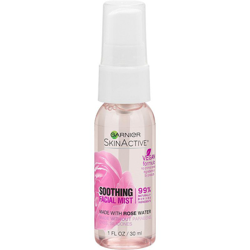 Garnier Travel Size SkinActive Facial Mist Spray with Rose Water