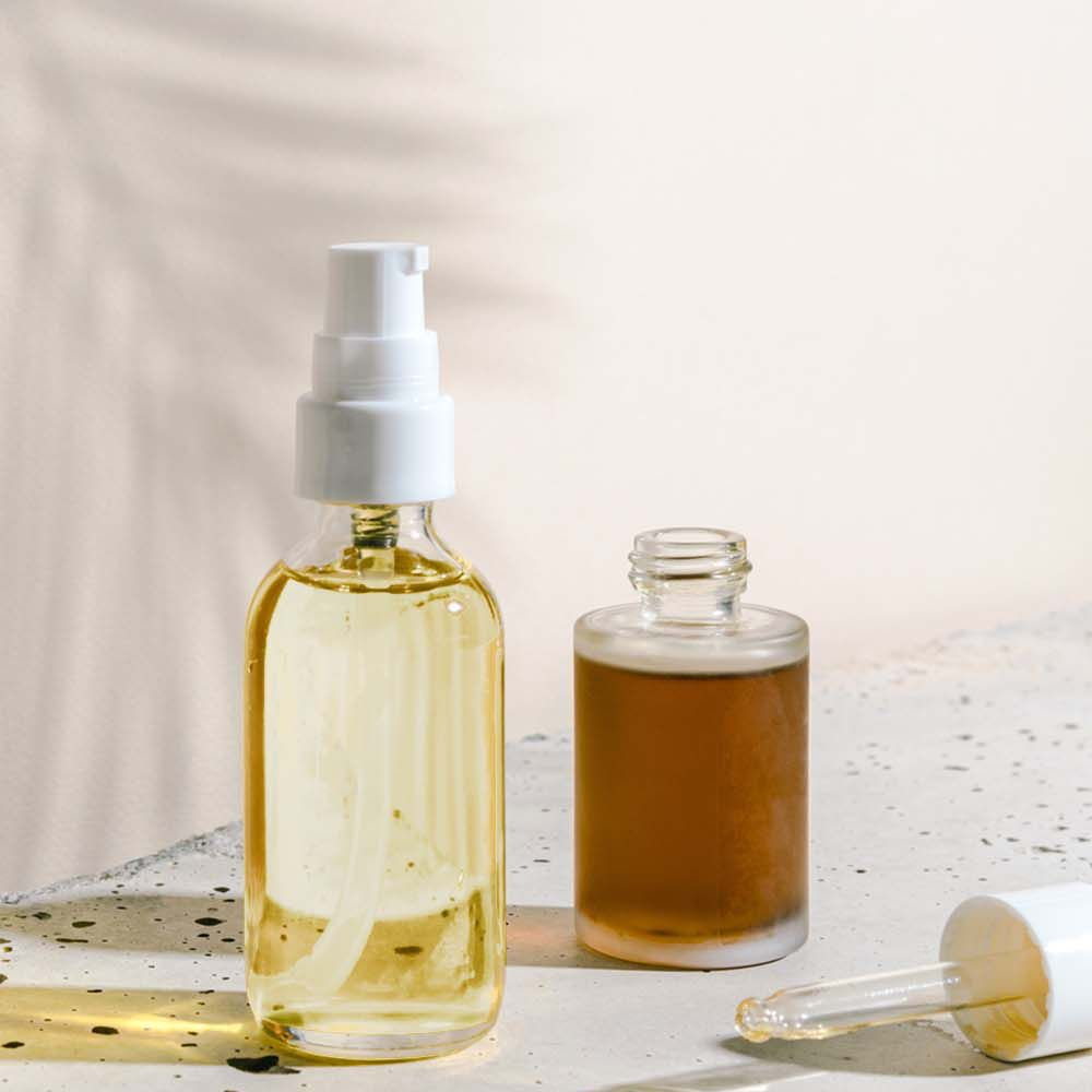 witch hazel and grapeseed oils