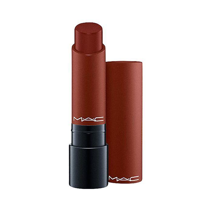 How to wear brown lipstick: MAC Liptensity Lipstick in Double Fudge