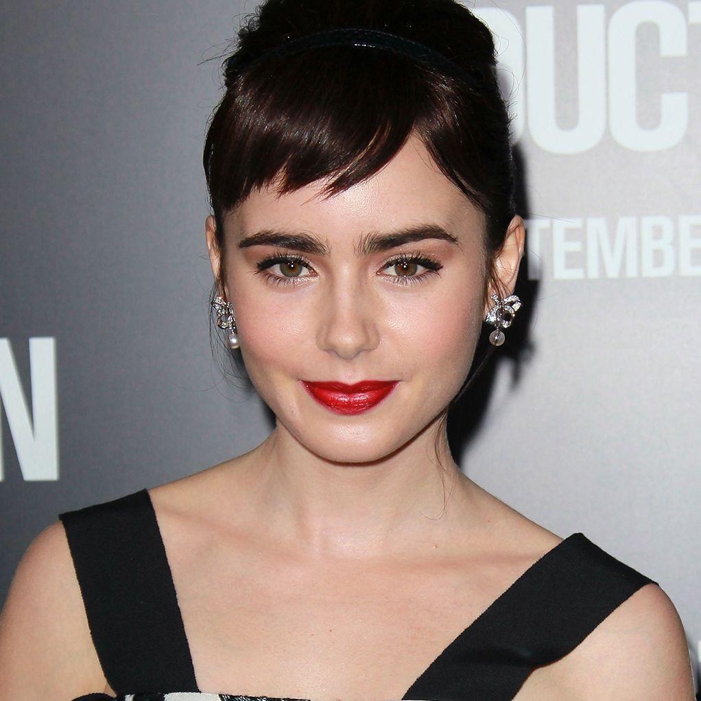 Audrey bangs