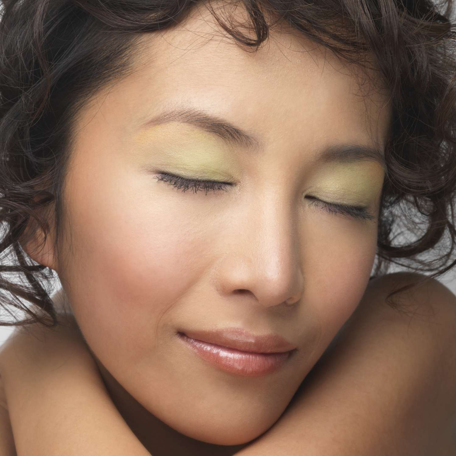 young woman with eye makeup