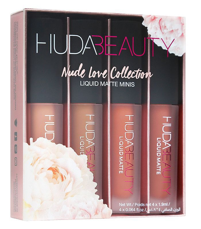 Lipstick gift sets: Huda Beauty Liquid Matte Minis Nude Love Edition