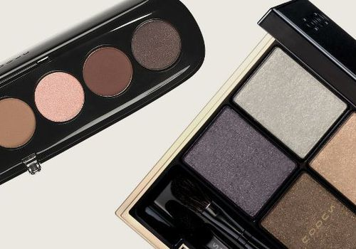 two neutral eyeshadow palettes laying side by side