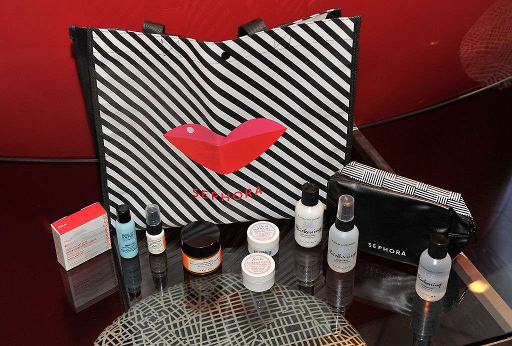 Sephora product samples and branded bag