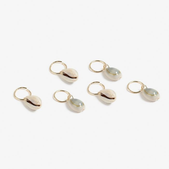Topshop Shell Drop Hair Rings