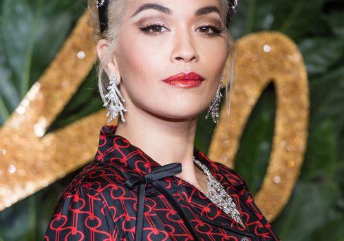 Rita Ora wearing a headband