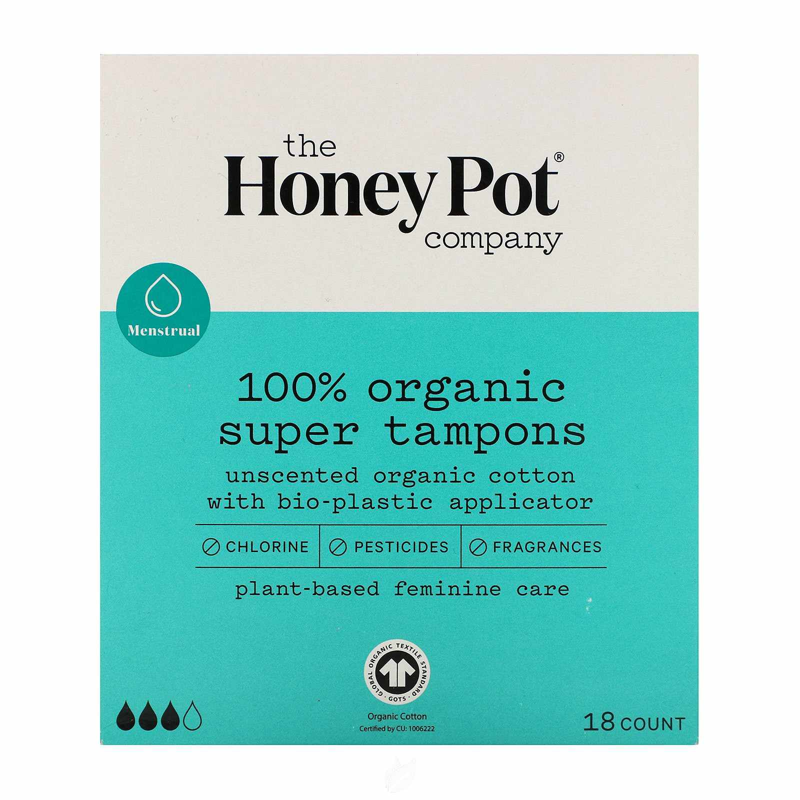 The Honeypot Co. Super Organic Bio-Plastic Applicator Tampons