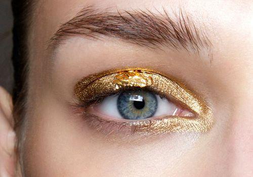 model with glitter eyeshadow